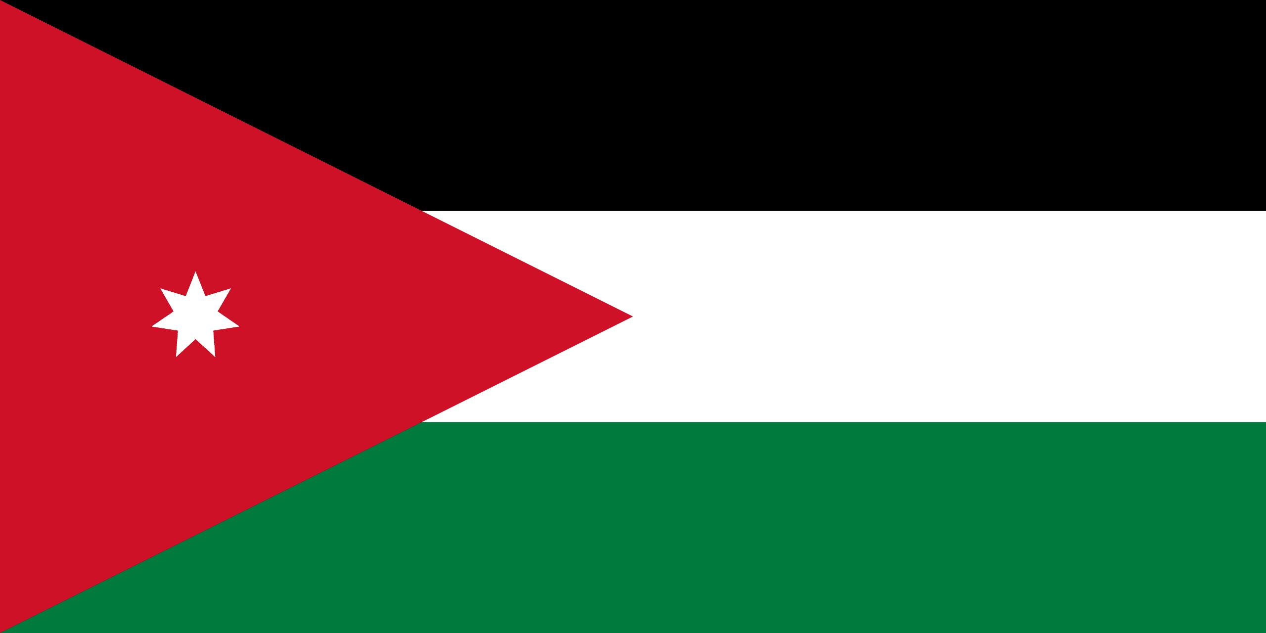 Jordania  Banderas de pases