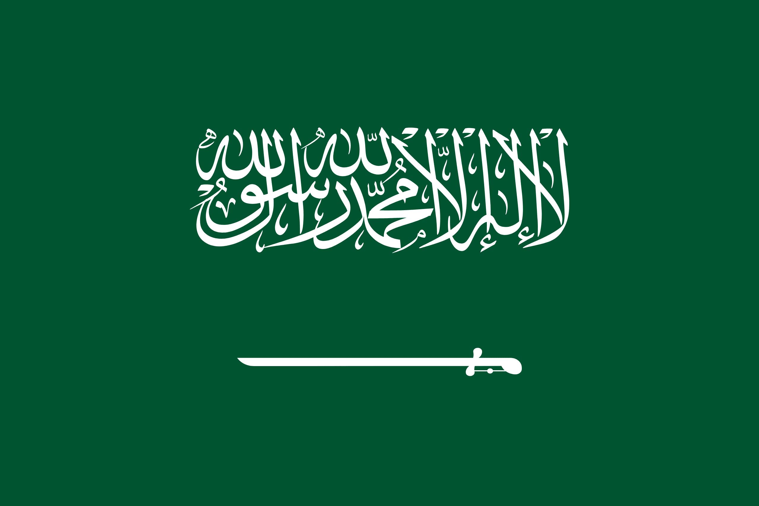 Resultado de imagen para bandera arabia saudita